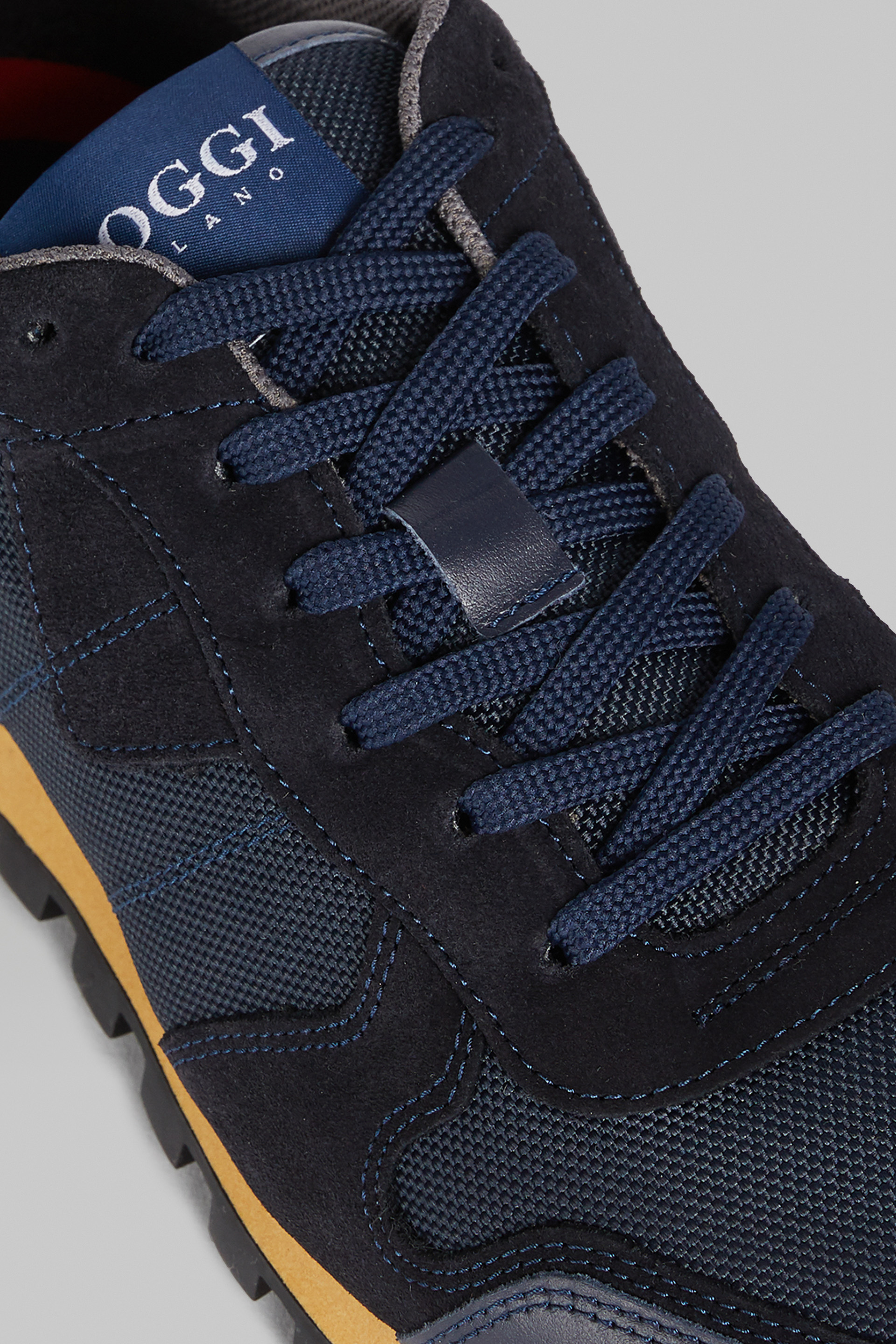 Leather And Nylon Running Trainers | Boggi