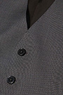 MICRO STRUCTURED WAISTCOAT IN SUPER 110 WOOL, Dark Grey, small