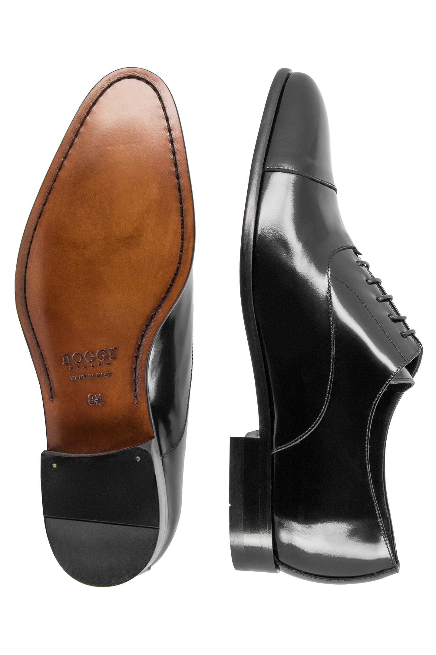 shiny leather oxford shoes made in italy black boggi