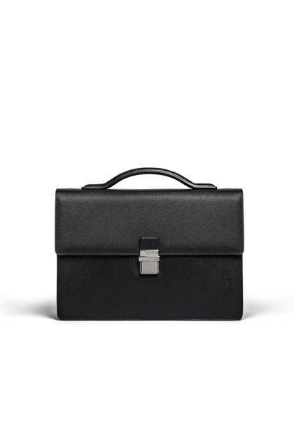 BRIEFCASE WITH FRONT FLAP, Black, medium