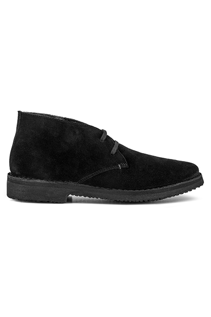 LIVED-IN SUEDE ANKLE BOOTS - MADE IN ITALY, Black, medium