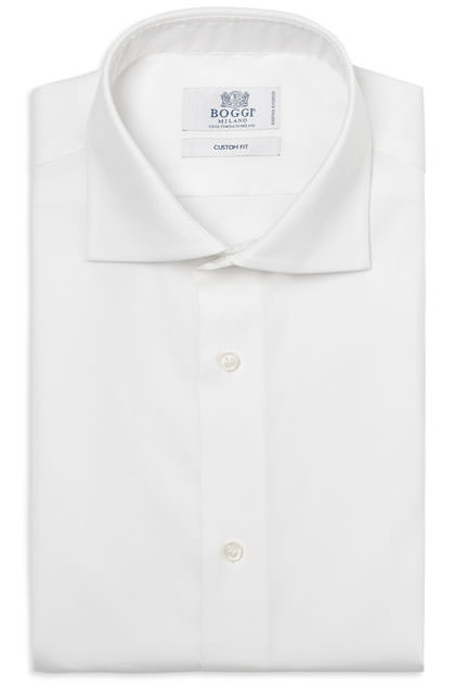 CAMICIA COTONE PIN POINT STRETCH EASY IRON DOPPIO RITORTO, Bianco, medium