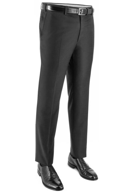 0 PINCEIN SUPER 130 PURE WOOL CLASSIC PANTS, Charcoal, medium