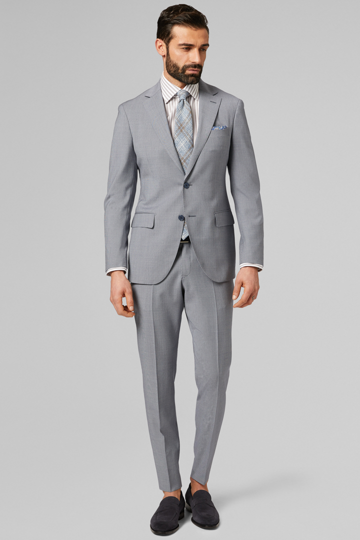 AIR FORCE BLUE PURE WOOL MANTOVA SUIT, AIR BLUE, large
