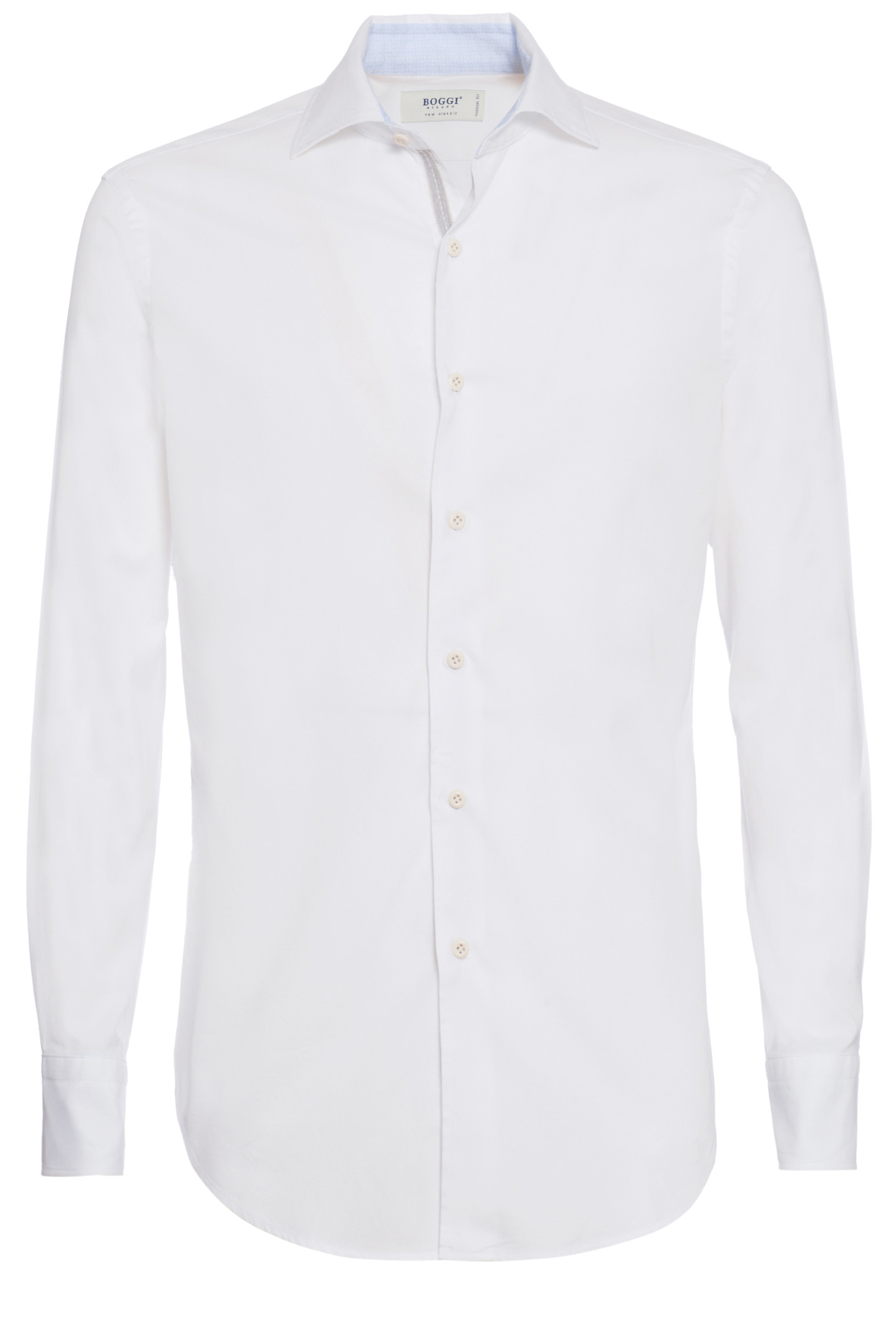 Custom Fit Shirt In Pin Point Cotton With Soft Collar