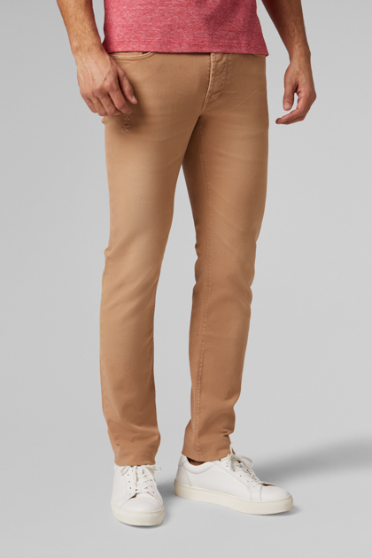 5 POCKET HOSE AUS BAUMWOLL-BULL EXTRASLIM FIT, BEIGE, medium