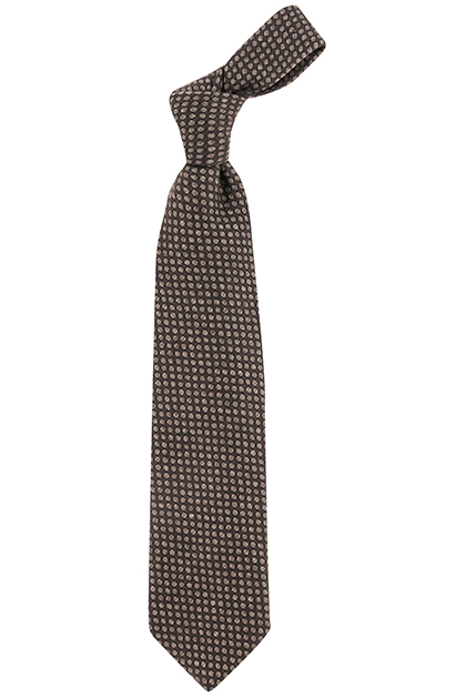 PRINTED CASHMERE BLEND PATTERNED TIE - MADE IN ITALY, Taupe (Turtle-Dove), medium
