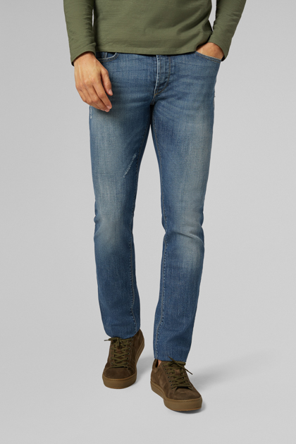 5 POCKET AUS STRETCH-DENIM, MEDIUM WASH EXTRA SLIM  FIT, DENIM, medium