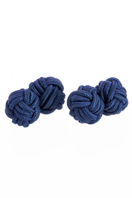 KNOT CUFFLINKS, Blue, medium