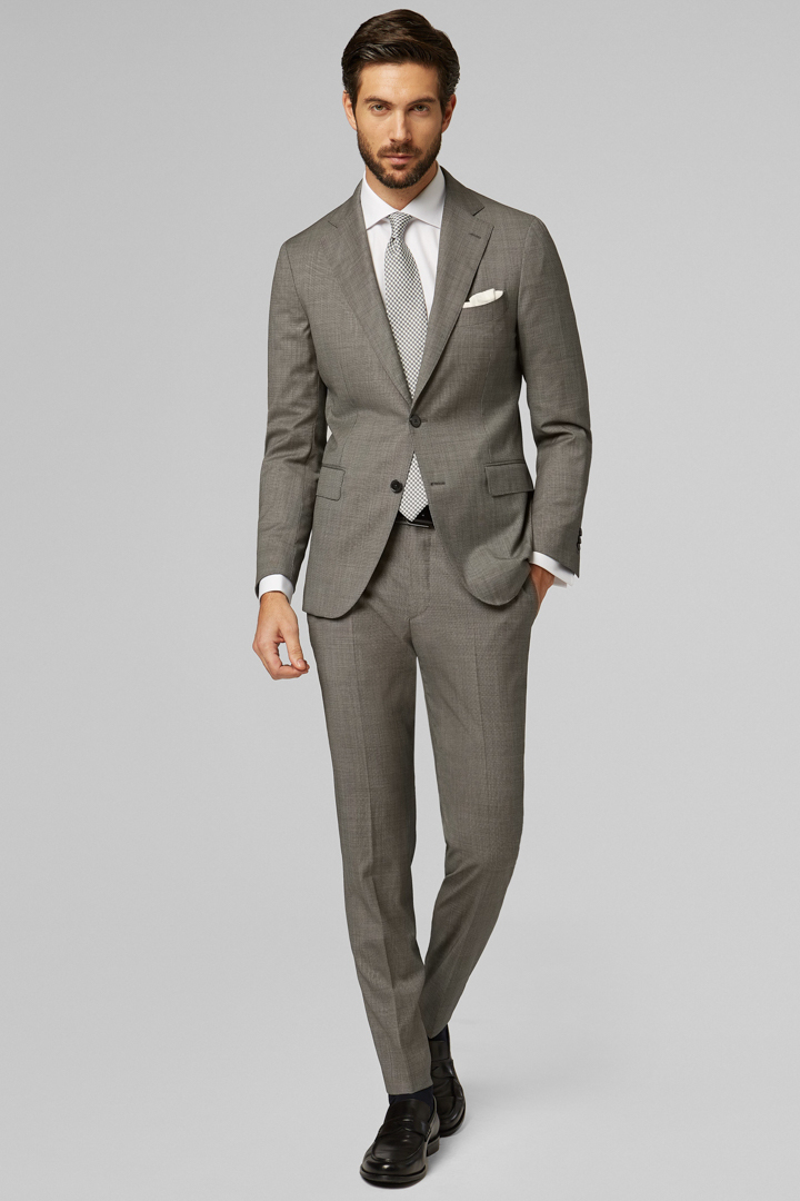 GREY PURE WOOL NAPOLI SUIT, GREY, large