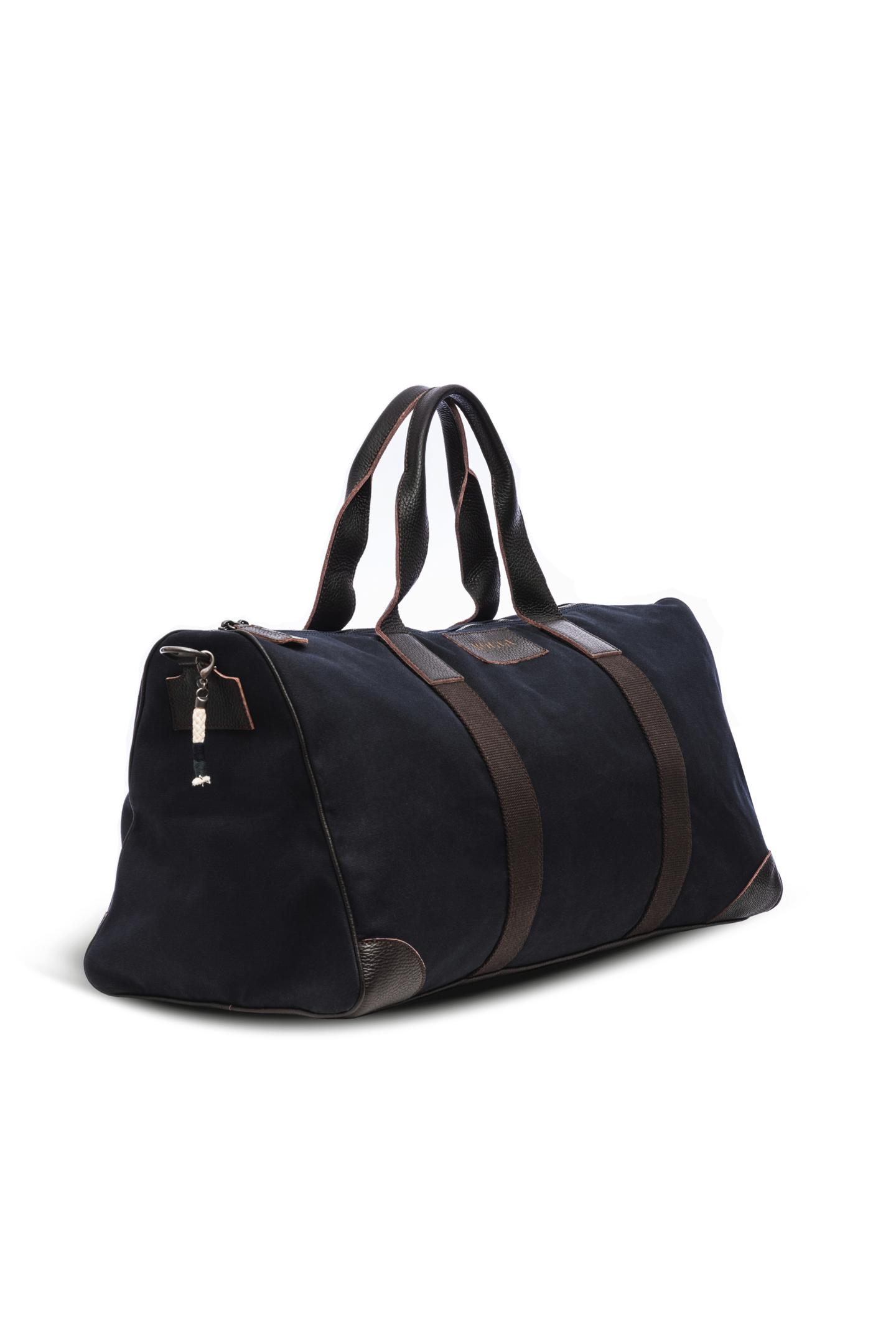 sac de voyage en toile uni bleu boggi. Black Bedroom Furniture Sets. Home Design Ideas