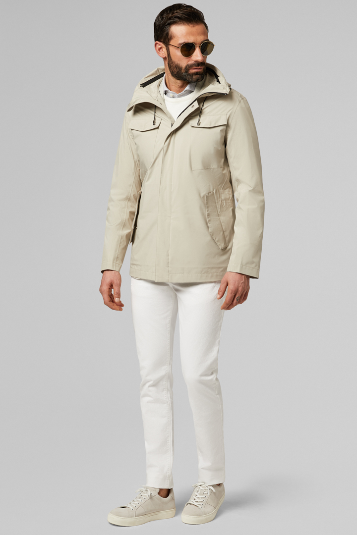 FIELD JACKET WITH HOOD, ICE COLOUR, large