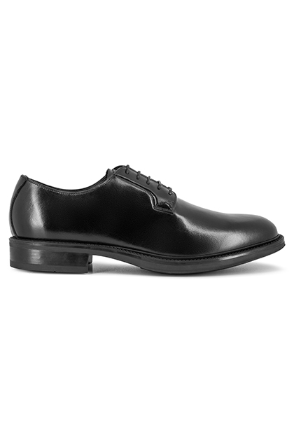 SMOOTH LEATHER BROGUES DAINITE SOLE - MADE IN ITALY, Black, medium