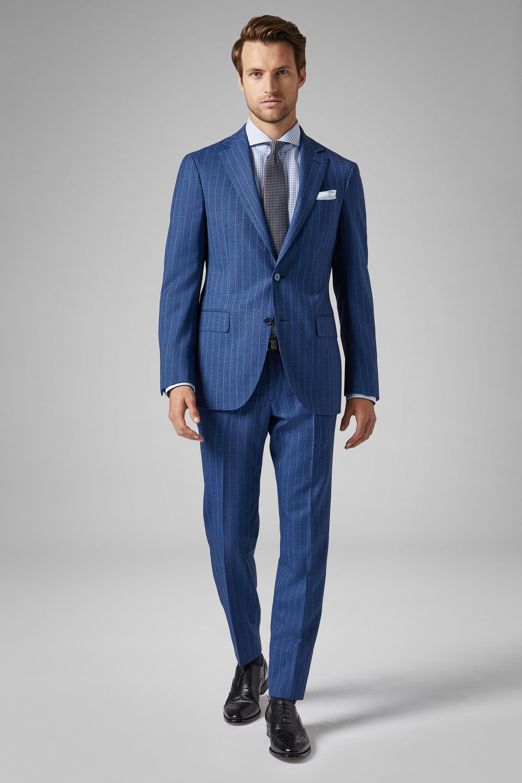 herren besondere Auswahl an Neupreis Anzug Blau Mantova Aus Wolle