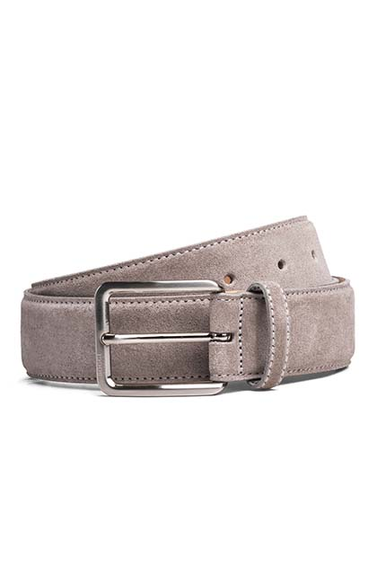 SUEDE BELT, Beige, medium