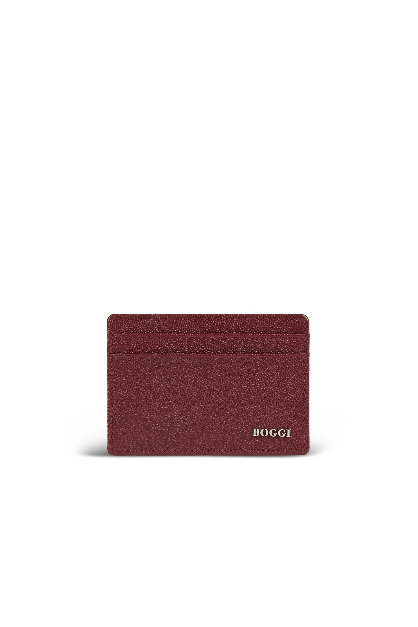 5287f23b9af4cd CAVIAR LEATHER CARD HOLDER, Red, large