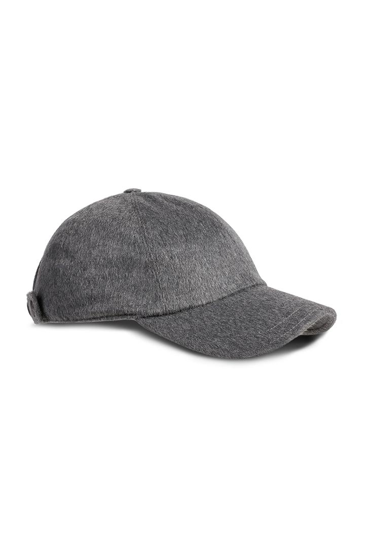 d2bca73718e PLAIN CASHMERE BASEBALL CAP