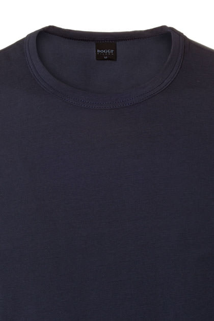 T-SHIRT ALGODÓN STRETCH, Navy, medium