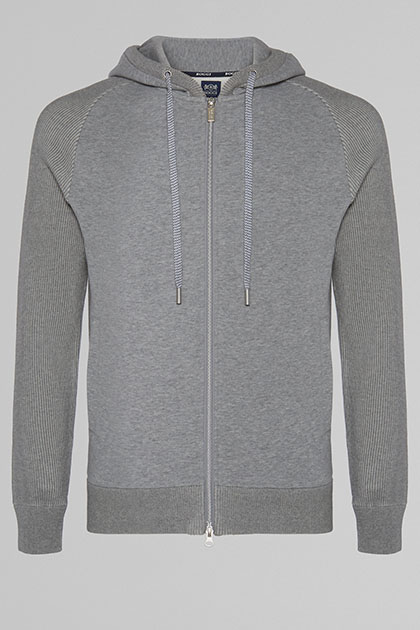 SWEAT FULL ZIP EN TRICOT, GRIS, medium