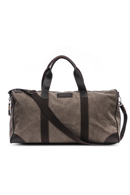 PLAIN CANVAS HOLDALL, Beige, medium