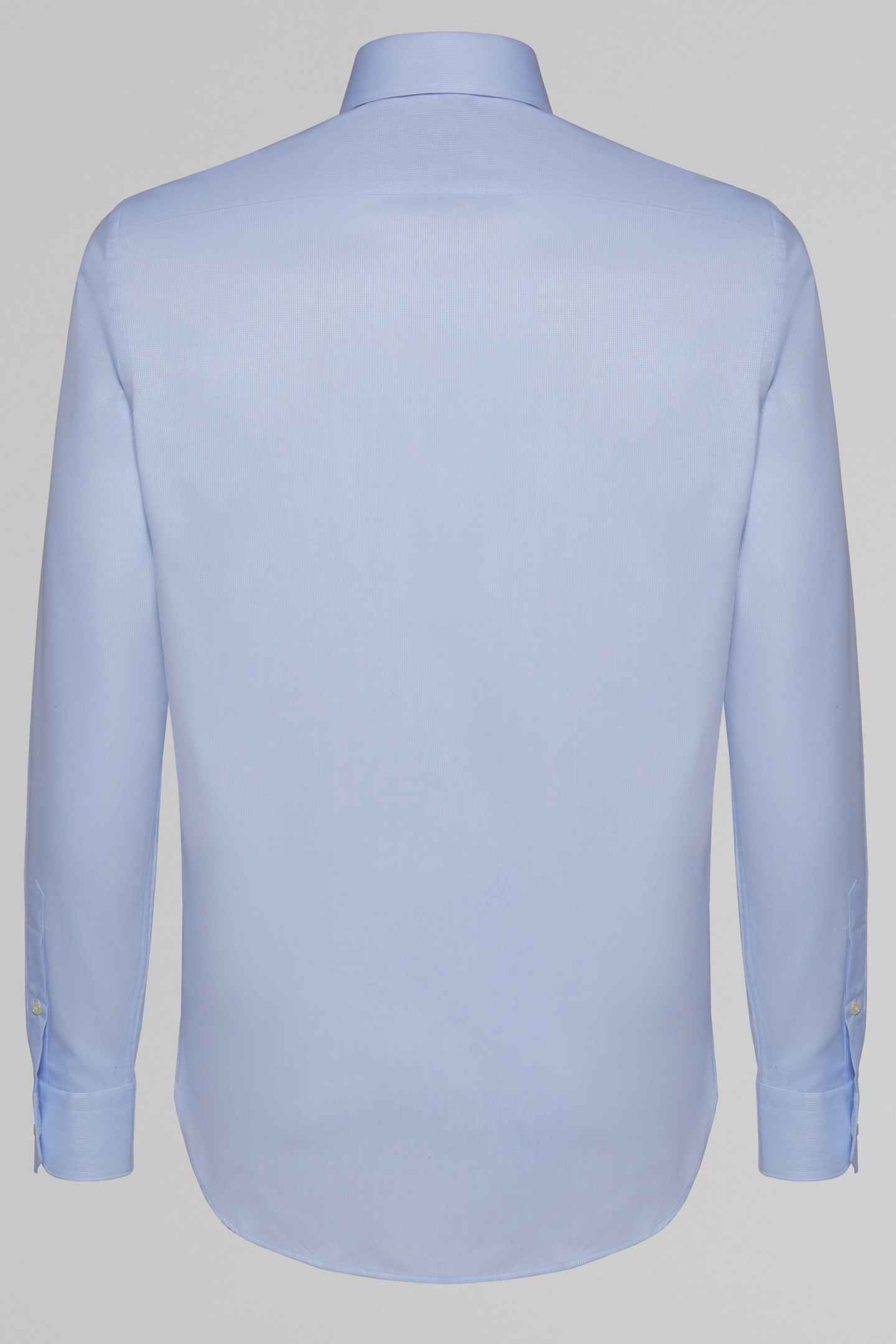 ... SLIM FIT BLUE SHIRT WITH NAPLES COLLAR, LIGHT BLUE, small ...