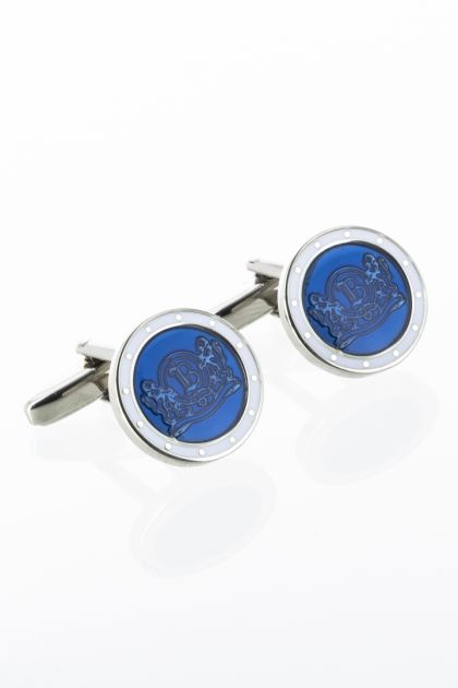 CUFFLINKS WITH LOGO, Bluette, medium