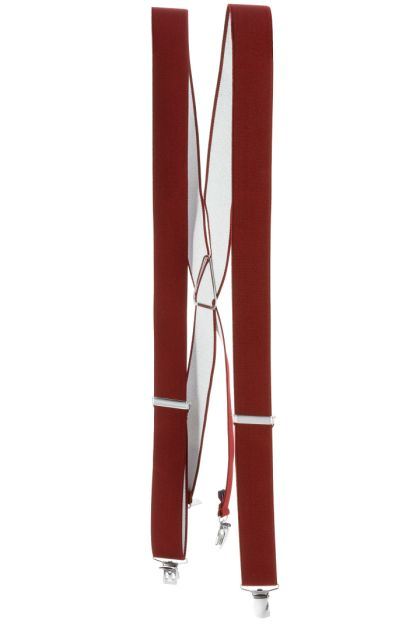 SUSPENDERS, Burgundy, medium