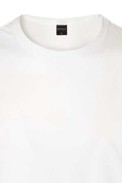T-SHIRT ALGODÓN STRETCH, Bianco, medium
