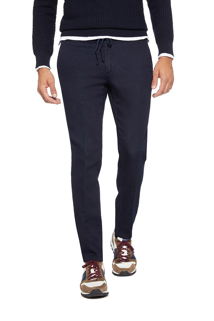Pantalone Lavato Indigo Boggi In Cotone rtqwHTr