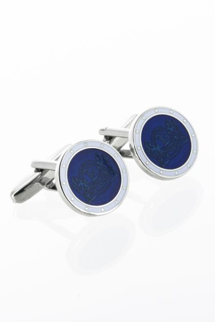 CUFFLINKS WITH LOGO, Blue, medium