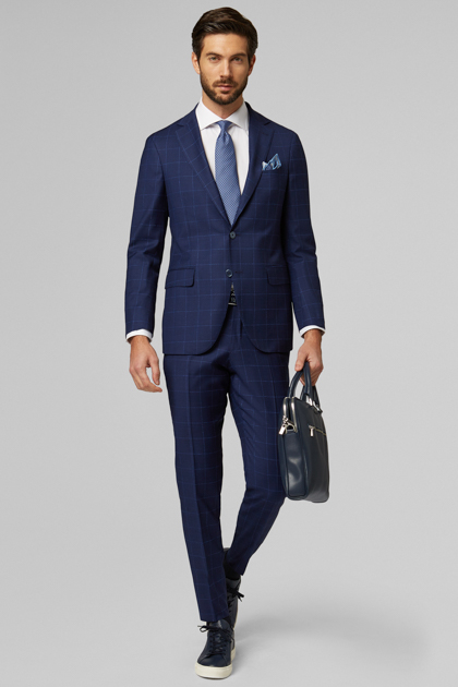 BLUE PURE WOOL MANTOVA SUIT, BLUE, medium