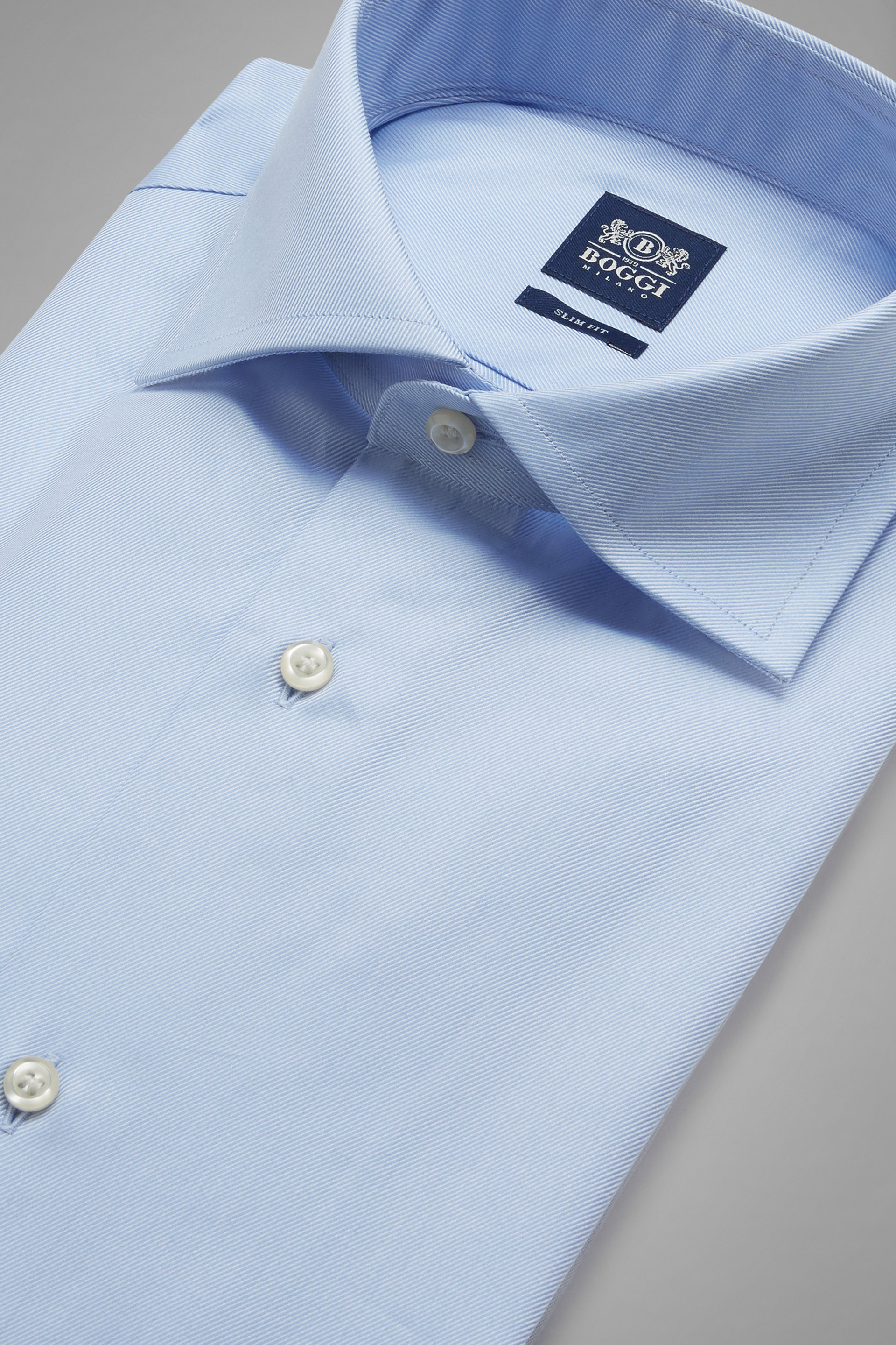 Two ply windsor collar twill cotton shirt boggi for 2 ply cotton shirts