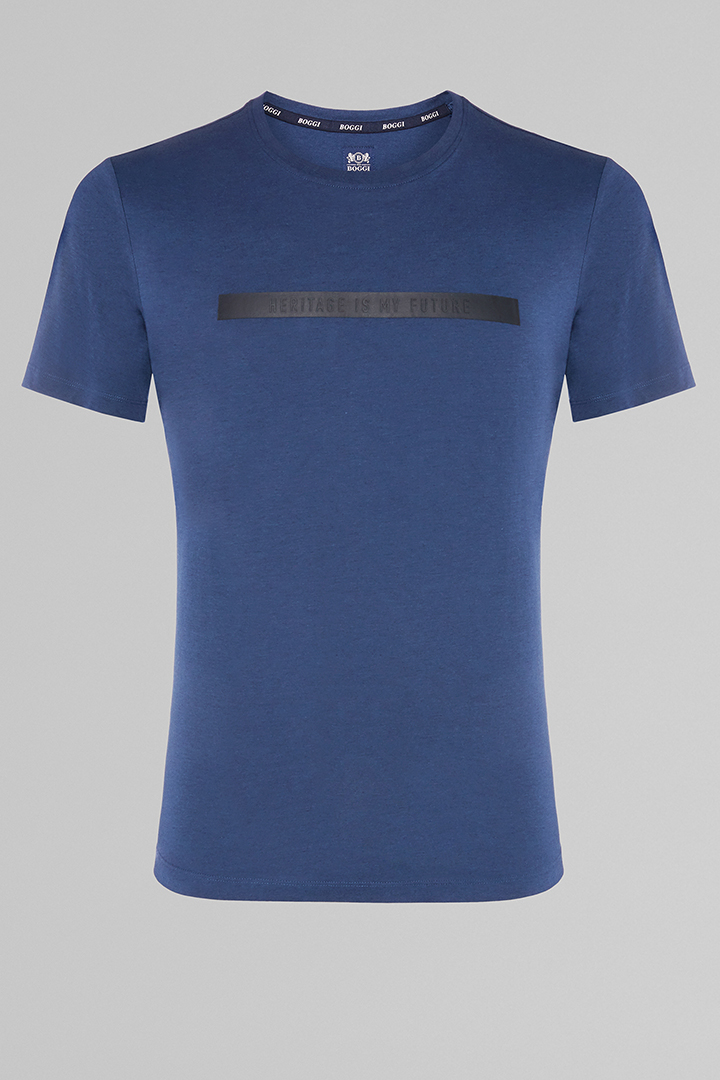 T-SHIRT IN COTONE & TENCEL, , large
