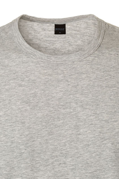 T-SHIRT ALGODÓN STRETCH, Grigio, medium