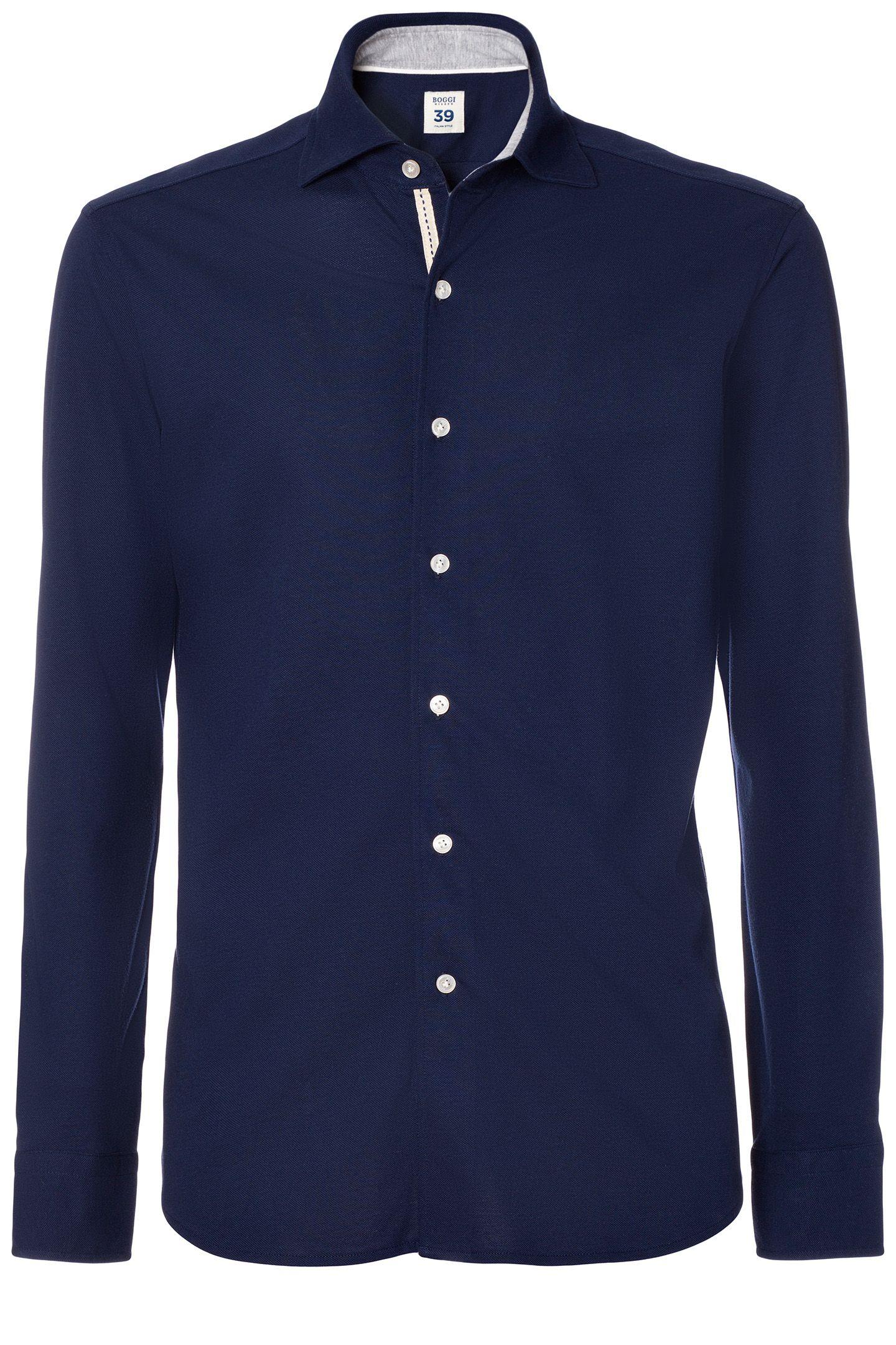 Piqu Air Cool Cotton Polo Shirt Custom Fit Boggi