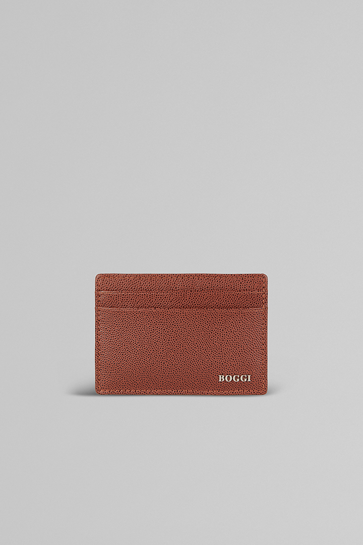 38e8022c6fb70e LEATHER CREDIT CARD HOLDER, LEATHER BROWN, large