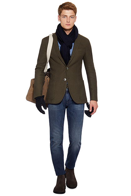 BOLD STRUCTURED JACKET - STRETCH COTTON, Military Green, medium