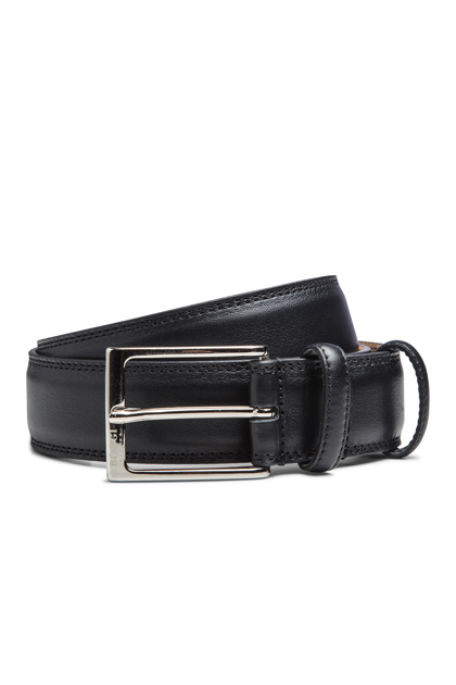 BLACK BELT WITH NUBUCK LINING, Black, medium