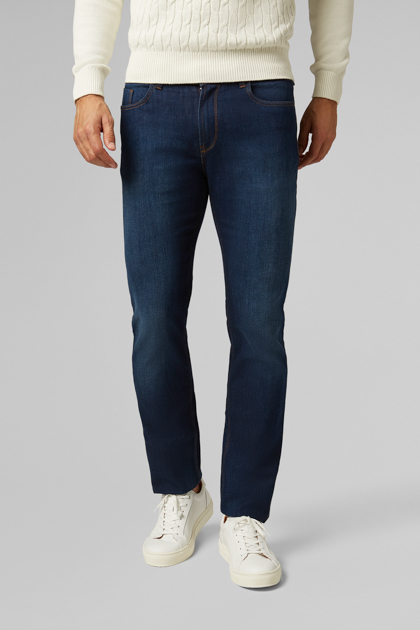 5 POCKET AUS STRETCH-DENIM, DARK WASH REGULAR FIT, DENIM, medium