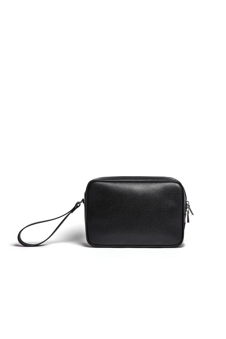 Single Zip Bag Black Large