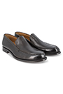 LEATHER LOAFERS WITH LEATHER SOLES - MADE IN ITALY, Dark Brown, small