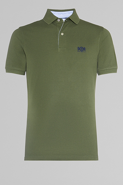 POLO MILITARE IN COTONE PIQUET, , medium