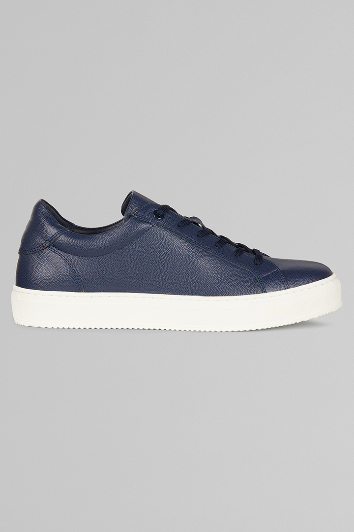 SNEAKERS IN PELLE CAVIAR, NAVY, large