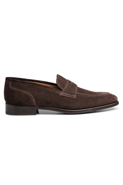 DARK BROWN SUEDE MOCCASIN, Dark Brown, medium