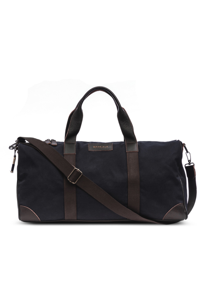 PLAIN CANVAS HOLDALL, Blu, medium