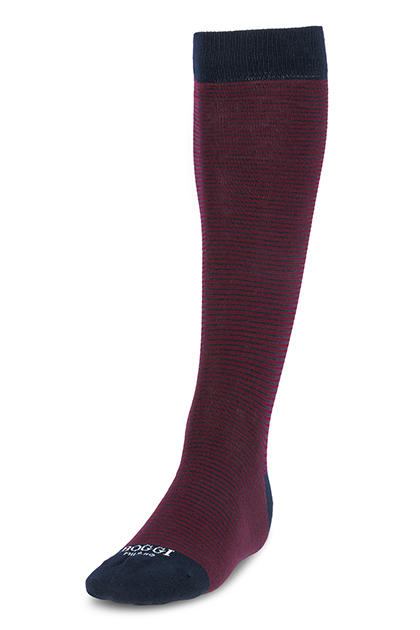 Image of CALZA LUNGA RIGATA IN COTONE - MADE IN ITALY